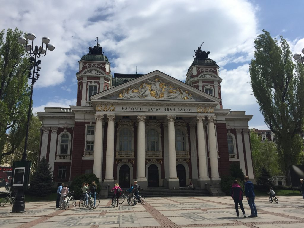 the National Theater in Sofia